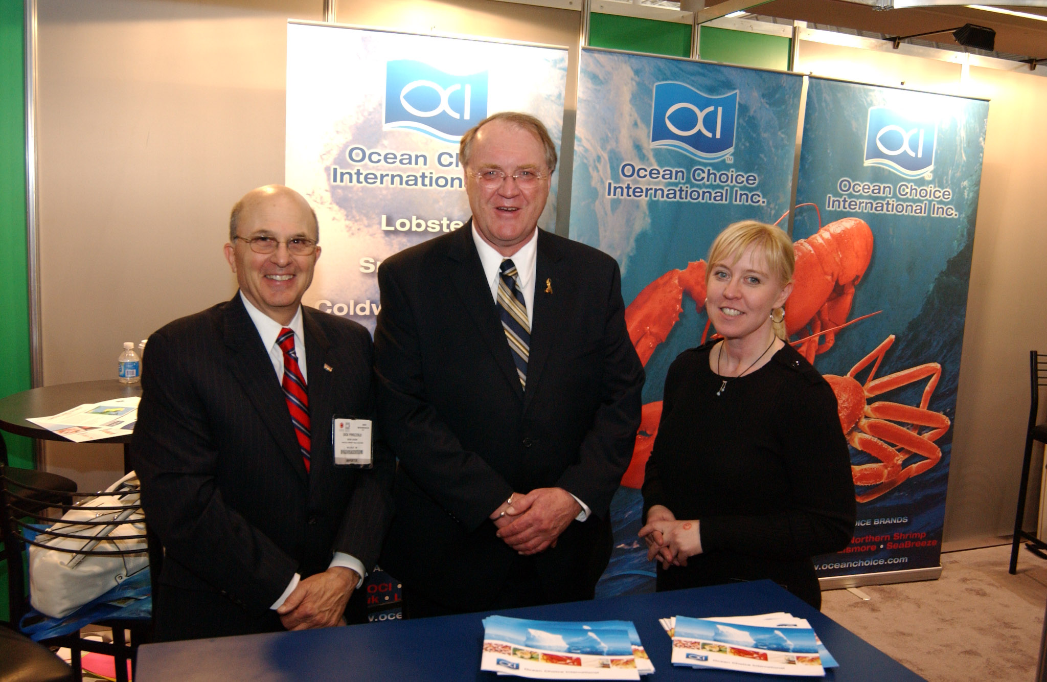 Dick Pirozzolo with ACOA at Boston Seafood Show
