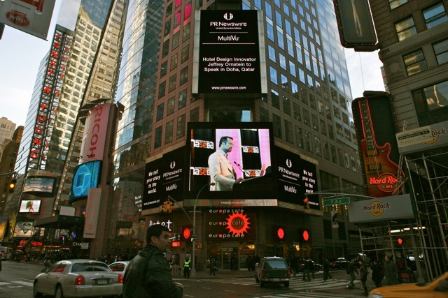 pirozzolo PR client on Times Square
